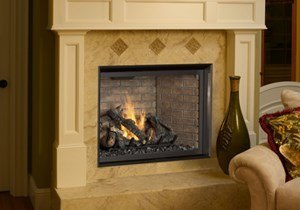 FPX 864 TRV GSR2 Clean Face Fireplace Inser Installed