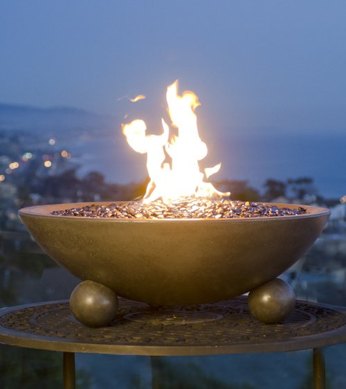"32"" Versailles Fire Bowl with Ball Feet"