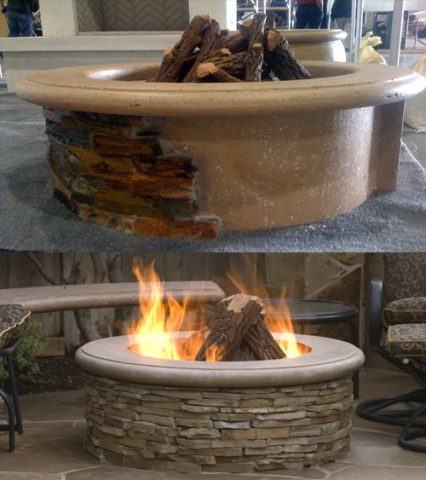 Contractors Model Outdoor Firepit