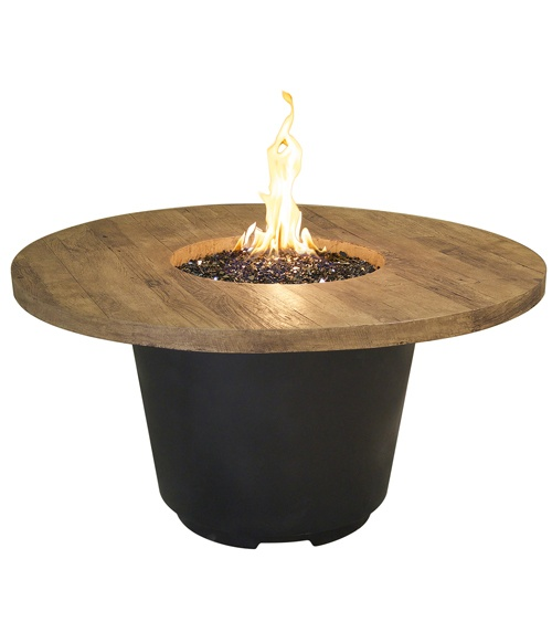 The French Barrel Oak Cosmopolitan Round Firetable
