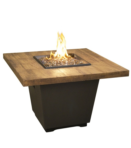 French Barrel Oak Cosmopolitan Square Firetable
