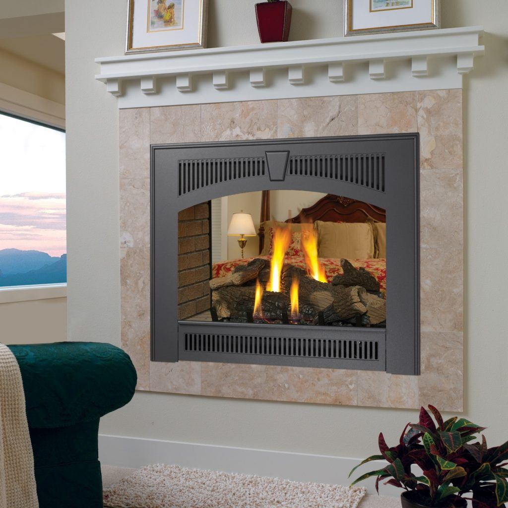 See-through luxury fireplace unit