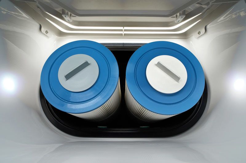 hot tub filters in filter holder
