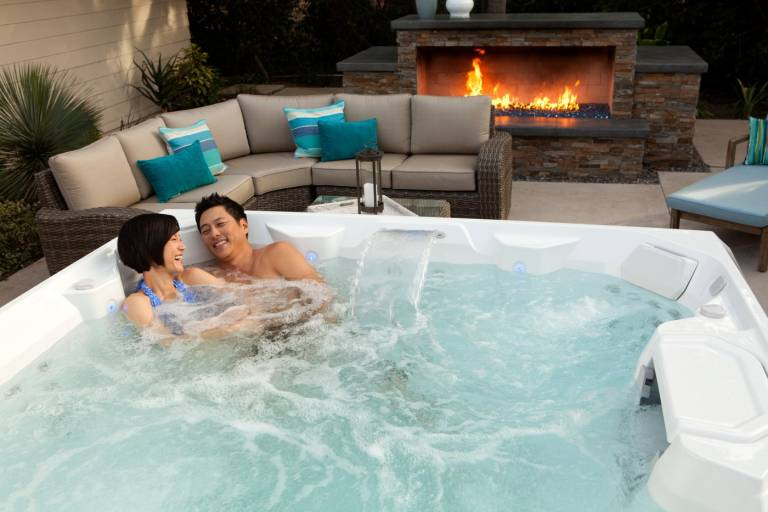 Couple in Hot Spring Limelight Spa