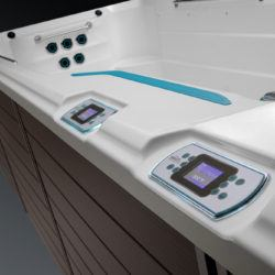 Swimcross X2000 Endless Pool & Spa control panel.