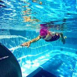 Endless Pools Swim Spas E550 swimmer in action.