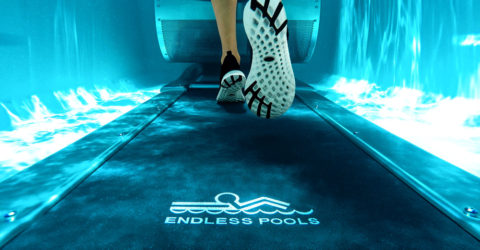 Endless Pools Swim Spas E550 underwater treadmill.