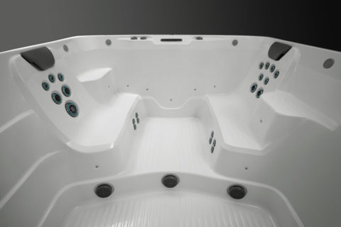 R200 swim spa seating with personal jets