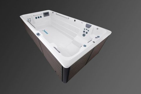 Overhead view of the R500 swim spa shell