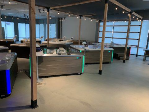 Concord showroom hot tubs