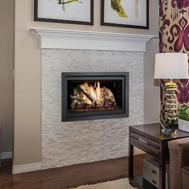fireplace in living room white mantle
