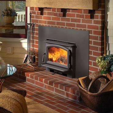 NextGen Fyre fireplace in brick exterior