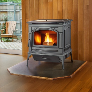 deerfield wood stove in home