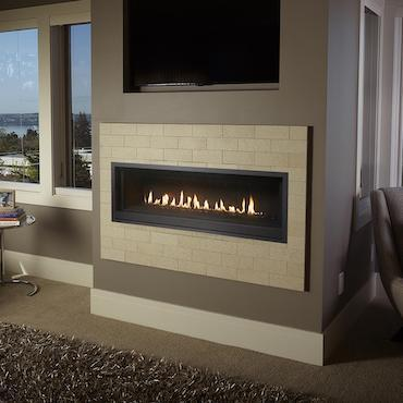 fireplace wall unit in living area