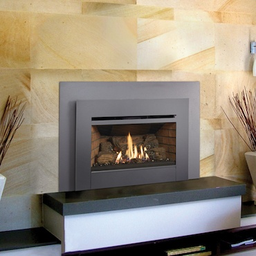 fireplace wall unit in modern living area