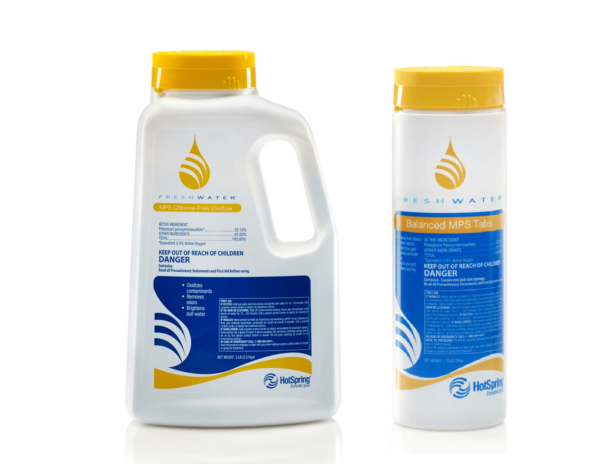 MPS Chlorine-Free oxidizer in bottle and tablets