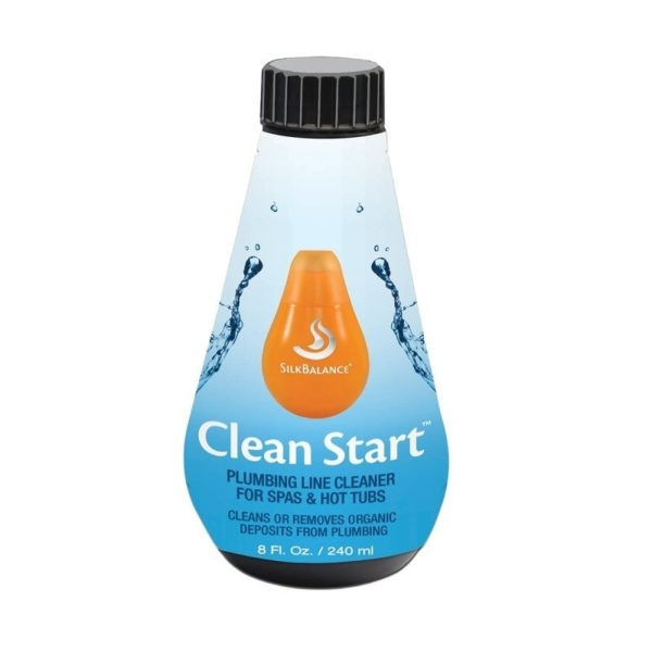plumbing line cleaner for hot tubs and spas bottle