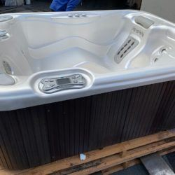 polished interior of hot tub