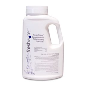 Chlorinating concentrate granules bottle