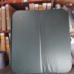 dark green hot tub cover