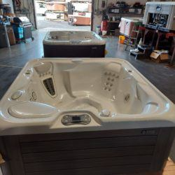 hot tub white interior