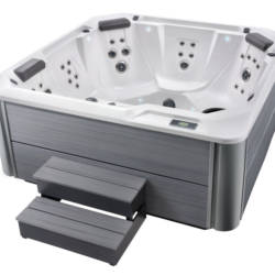 The HotSpring Relay Hot Tub featuring its hydromassage jet system