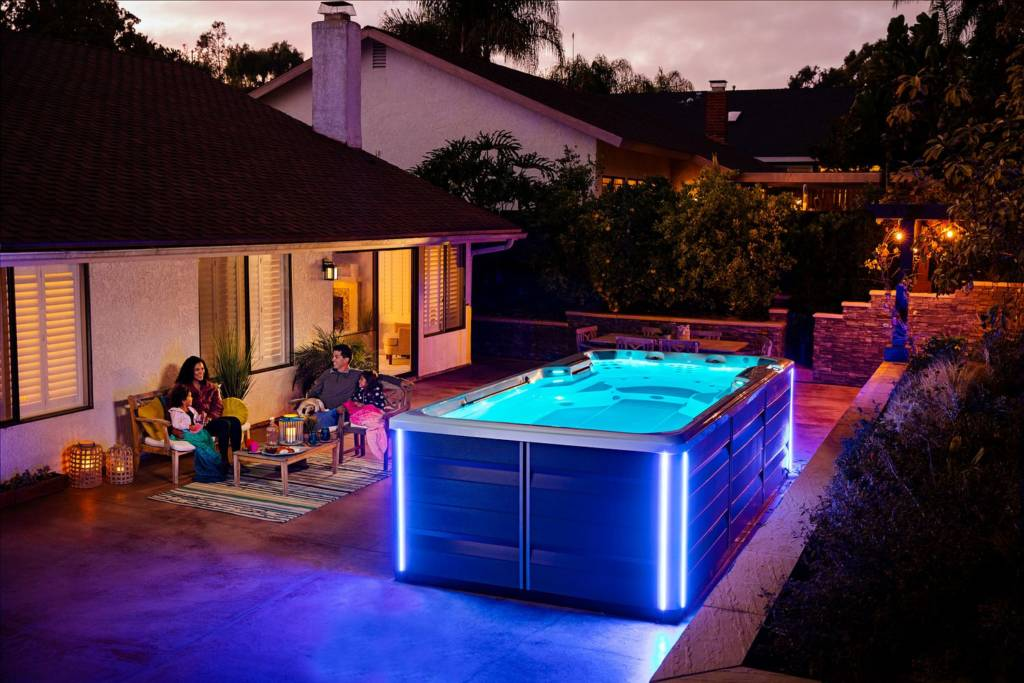 Swim Spas are a great alternative to a pool for small backyards